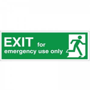 Exit For Emergency Use Only - Health and Safety Sign (FE.27)