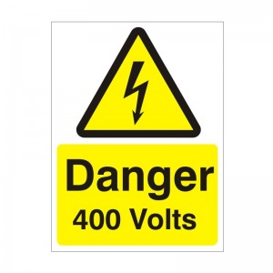 Danger 400 Volts - Health and Safety Sign (WAE.24)