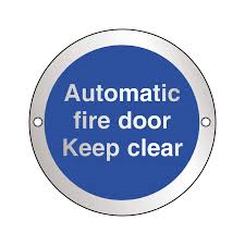 Automatic Fire Door Keep Clear - Health & Safety Sign  (ARC.88)