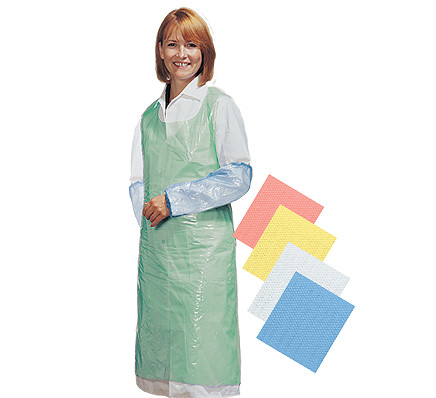 Cater Safe Disposable Bib Aprons - Yellow