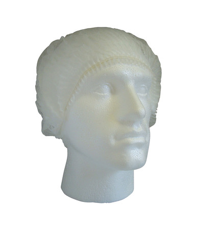 Cater Safe Pleated Mob Caps - White