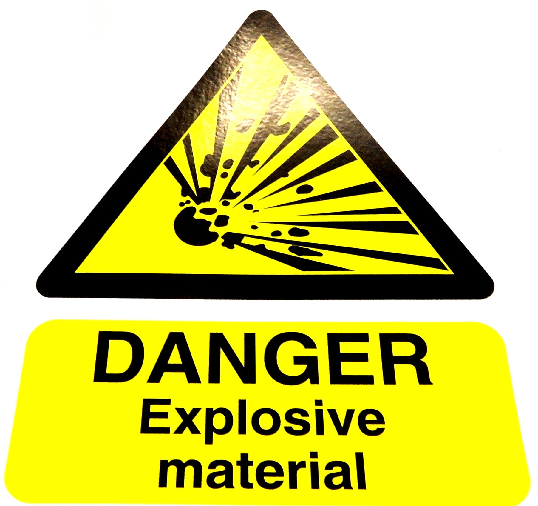 Danger Explosive Material Sign Clearance
