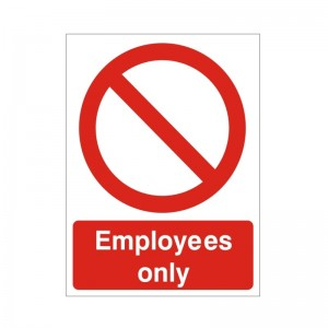 Employees Only - Health and Safety Sign (PRG.36)