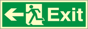 Exit Left Arrow - Fire Safety Sign (EX.39)