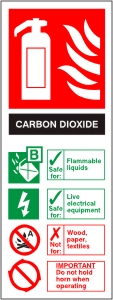 Carbon Dioxide Fire Extinguisher - Health & Safety Sign (FI.06)