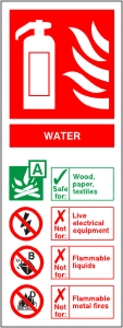Water Fire Extinguisher - Health & Safety Sign (FI.07)