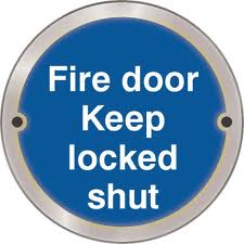 Fire Door Keep Locked Shut- Health & Safety Sign (ARC.67)