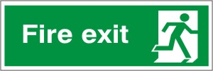 Fire Exit - Fire Safety Sign (FE.16)