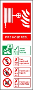 Fire Hose Reel - Health & Safety Sign (FI.09)