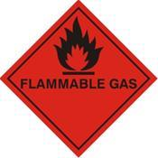 Flammable Gas Warning Label (FG23G)
