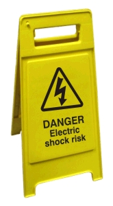 Danger Electric Shock Risk - Health and Safety Sign (FS3.06)