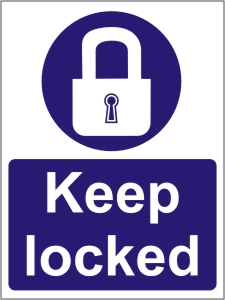 Keep Locked - Health and Safety Sign (MAA.07)