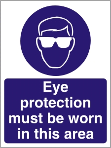 Eye Protection Must be Worn in this Area - Health and Safety Sign (MAP.06)