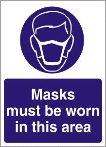 Masks Must be Worn in this Area - Health and Safety Sign (MAP.07)