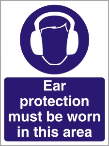 Ear Protection Must be Worn in this Area - Health and Safety Sign (MAP.08)
