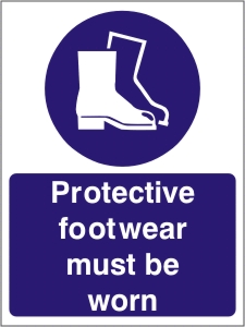 Protective Footwear Must be Worn - Health and Safety Sign (MAP.13)