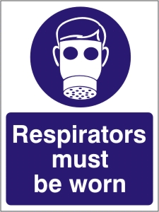 Respirators Must be Worn - Health and Safety Sign (MAP.20)