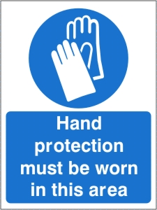 Hand Protection Must be Worn in this Area - Health and Safety Sign (MAP.42)