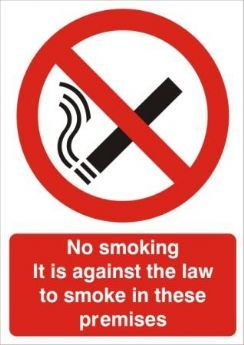 No Smoking It Is Against The Law To Smoke In These