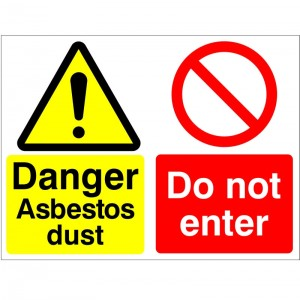 Danger Asbestos Dust Do Not Enter - Health and Safety Sign (MUL.06)