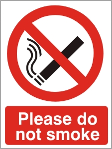 Please Do Not Smoke - Health & Safety Sign (PRS.04)