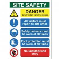 Site Safety Sign (SFB070) - Best Value - only £12.99