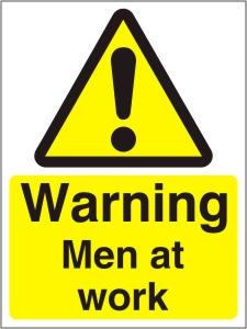 Warning Men at Work - Health and Safety Sign (WAC.05)