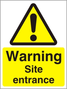 Warning Site Entrance - Health and Safety Sign (WAC.18)