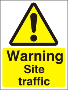Warning Site Traffic - Health and Safety Sign (WAC.19)