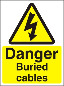 Danger Buried Cables - Health and Safety Sign (WAE.02)