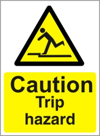 Caution Trip Hazard - Health and Safety Sign (WAG.04)