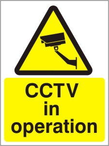 CCTV in Operation - Health and Safety Sign (WAG.07)