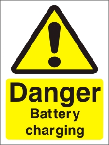 Danger Battery Charging - Health and Safety Sign (WAG.16)