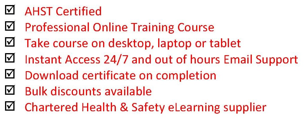 Online manual handling training course