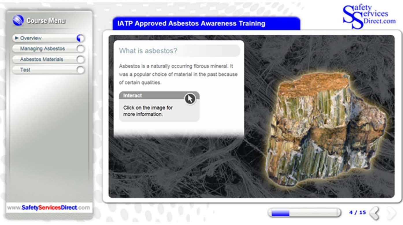 IATP Approved Online Asbestos Awareness Training course Category A