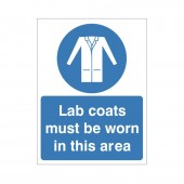 Lab Coats Must Be Worn - Health and Safety Sign (MAP.35)