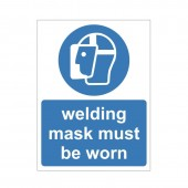 Welding Mask Must Be Worn - Health and Safety Sign (MAP.50)