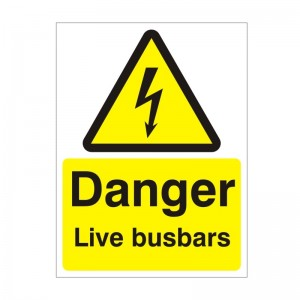 Danger Live Busbars - Health and Safety Sign (WAE.22)