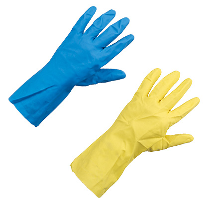 Ansell Econohands Plus Flocklined Latex Glove