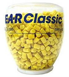 3M EAR Classic Foam Ear Plug Refill Bottle (500 Pairs)