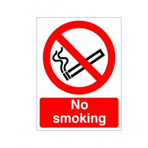 No Smoking - Reverse Printed Window Graphic -Health and Safety Sign (PRS.92)