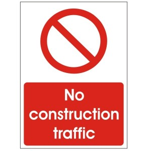 No Construction Traffic - Health and Safety Sign (PRC.09)