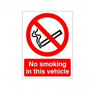 No Smoking In This Vehicle - Health and Safety Sign (PRS.41)