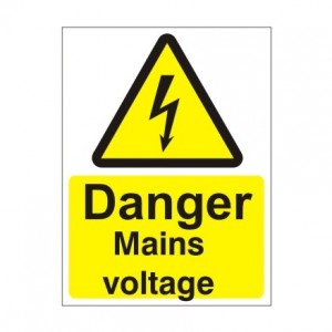 Danger Mains Voltage - Health and Safety Sign (WAE.14)