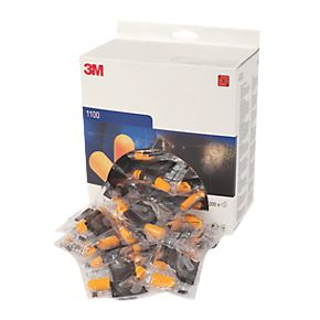 Disposable 3M 1100 Uncorded Earplugs (Box of 200 Pairs)