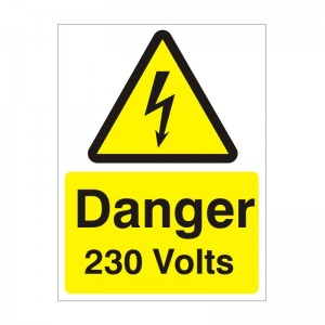Danger 230 Volts - Health and Safety Sign (WAE.23)