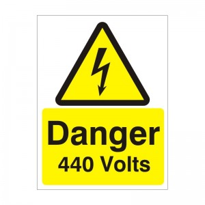Danger 440 Volts - Health and Safety Sign (WAE.09)