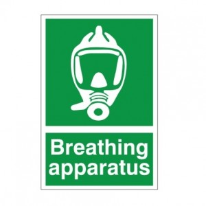 Breathing Apparatus - Health and Safety Sign (FA.15) - Truly high quality signs for minimal prices from Safety Services Direct! Just £1.95!