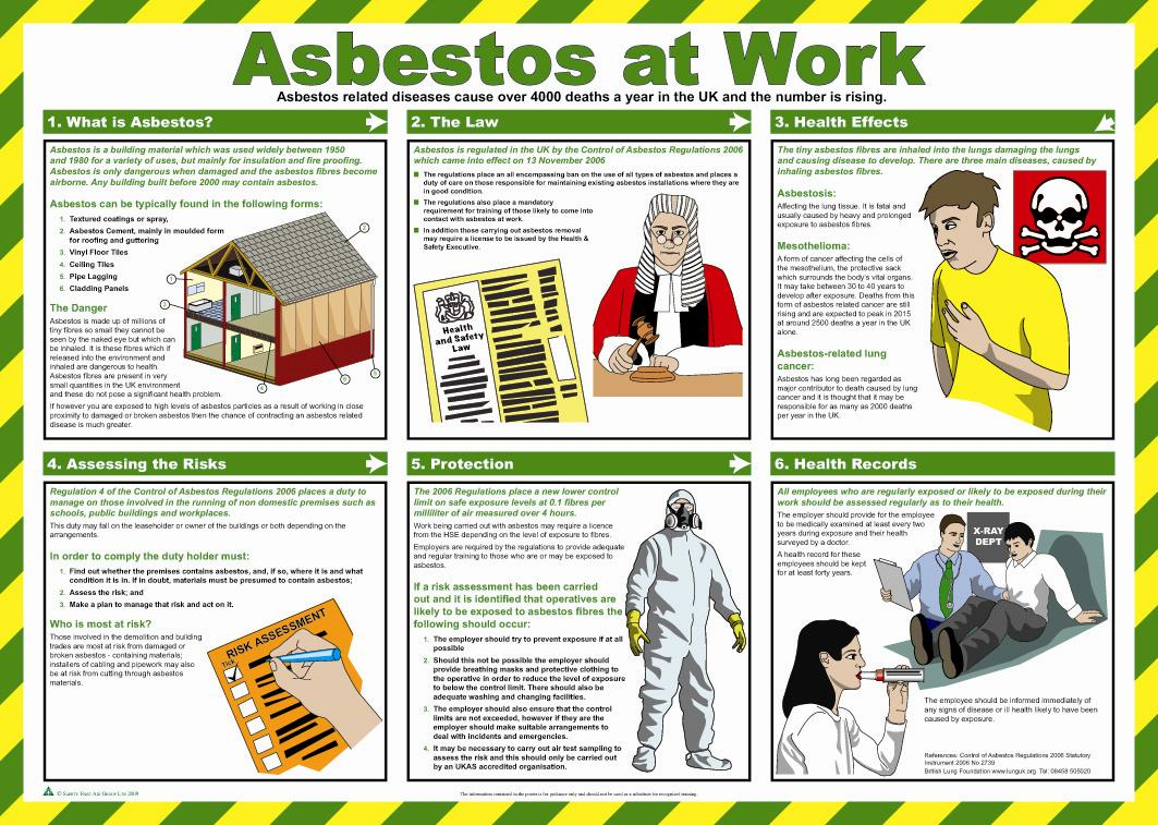 Asbestos at Work Health & Safety Poster | Safety Services ...