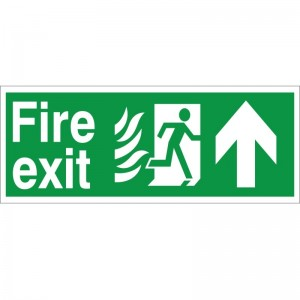 Fire Exit  Up Arrow - Healthcare Establishment Health and Safety Sign (HM.01)